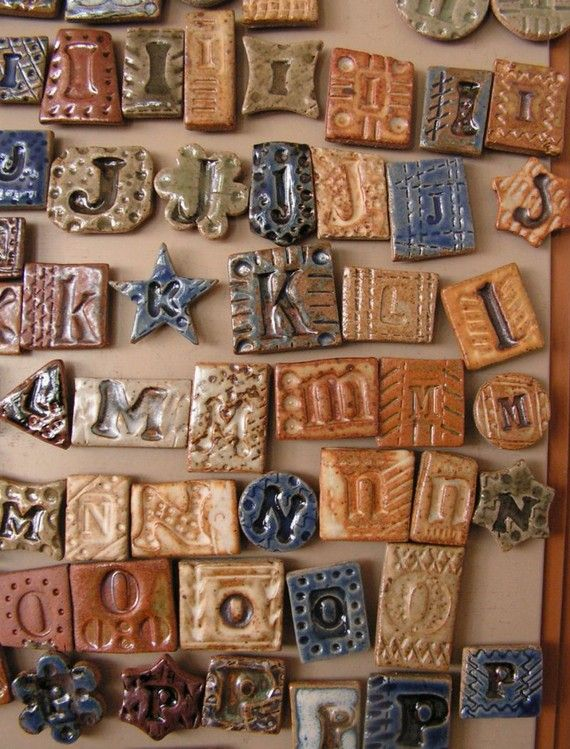 Magnet Clay Tile Letters By Thebrickyard On Etsy