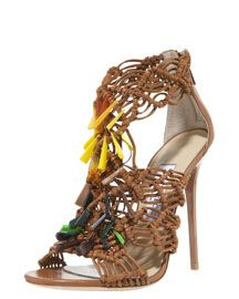 Jimmy Choo Beaded Crocheted Sandal