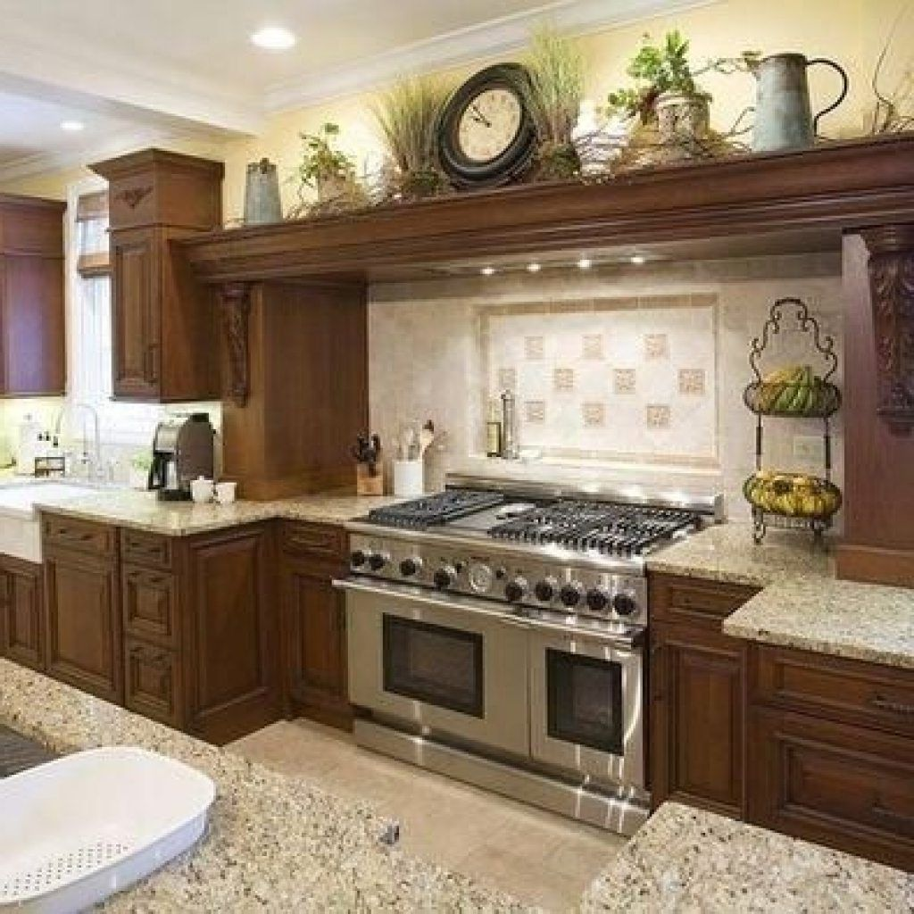 Above kitchen cabinet decor ideas kitchen design ideas for Kitchen accessories ideas