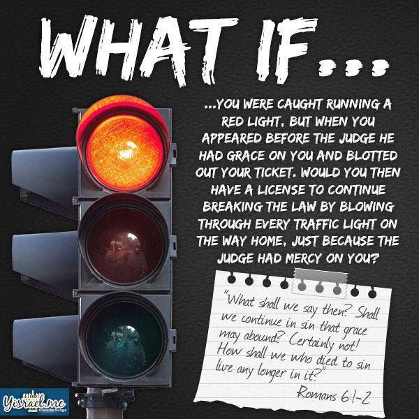 What If You Were Caught Running A Red Light, But When You Appeared Before  The Judge He Had Grace On You And Blotted Out Your Ticket.