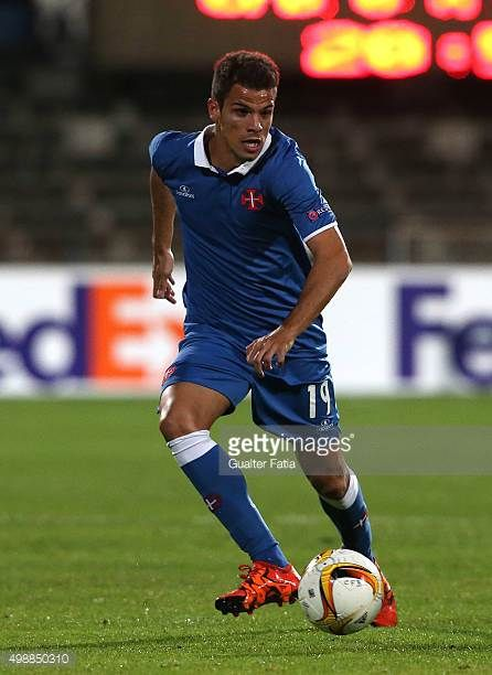 Os Belenenses Defender Andre Geraldes In Action During The Uefa