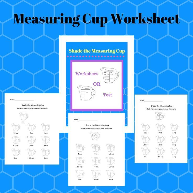 Measuring Cup Worksheet (Family and Consumer Science, FACS