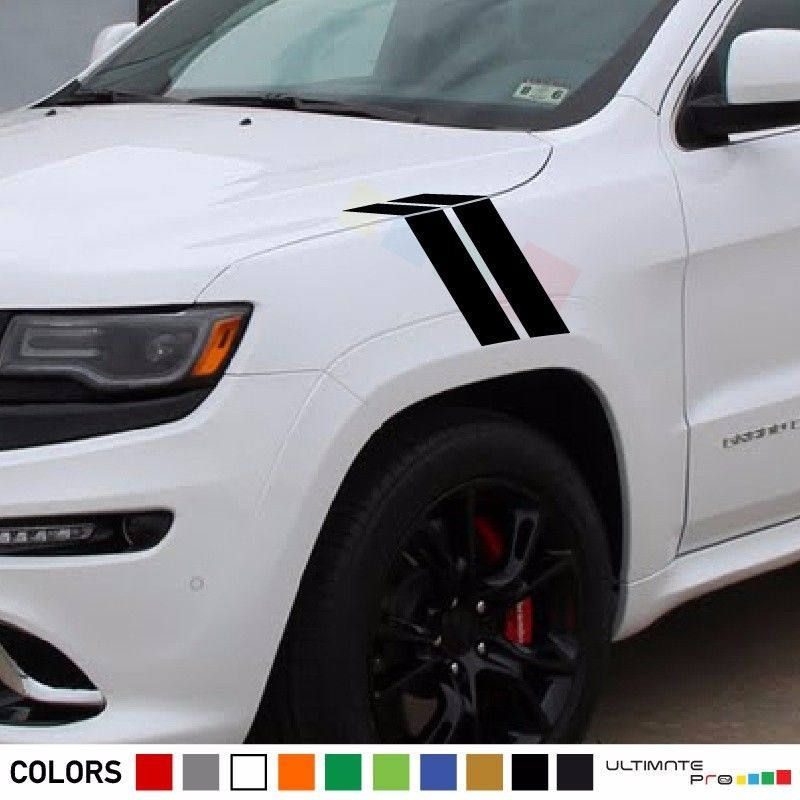 Sticker Stripe Kit For Jeep Grand Cherokee Srt8 Left Right Hood