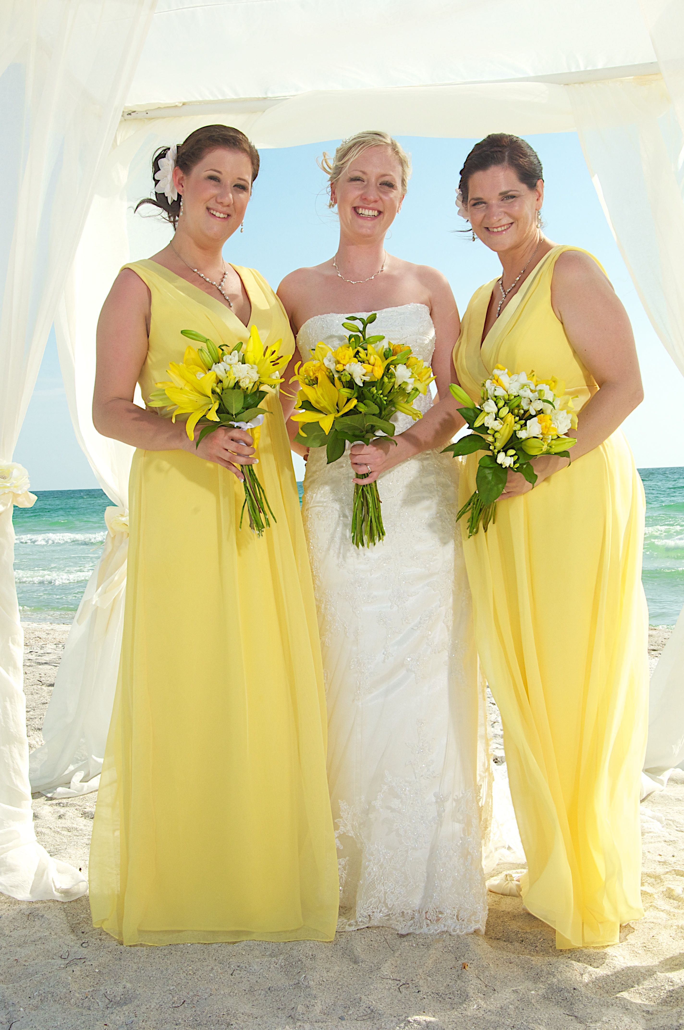 Lemon Bridesmaids Dresses Yellow Beach Wedding Yellow Wedding Dress Beach Wedding Yellow Beach Bridesmaid Dresses