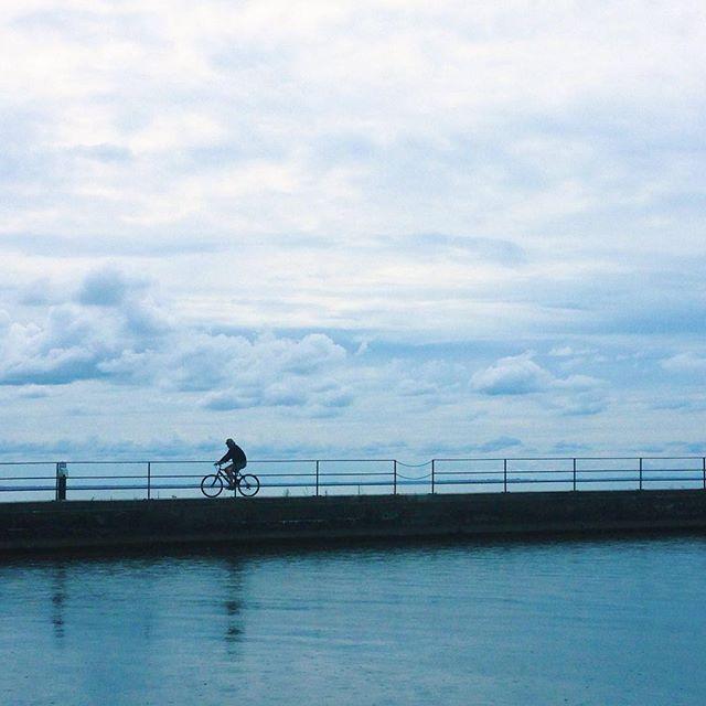 David McDonough, Sunday Cycle #Bicycle #Blue #Clouds #Sky #TorontoArtist #Water