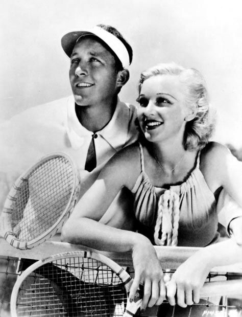 Bing Crosby and Dixie Lee play tennis | Bing crosby, Classic movie ...
