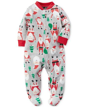 acf40f952d0d Carter s 1-Pc. Santa-Print Footed Coverall