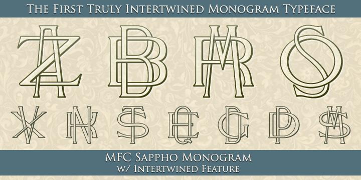 MFC Sappho Monogram™ Desktop font « MyFonts could make