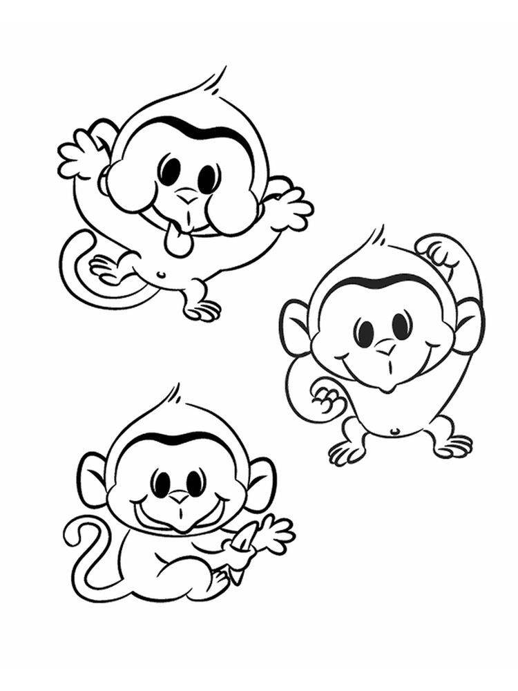 47++ Printable monkey coloring pages for adults ideas