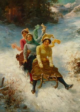Hans Zatzka, sleigh ride