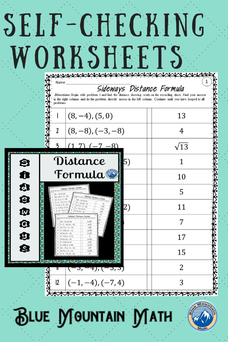Distance Formula Worksheets Distance Formula Common Core Math Activities Math Resources [ 1102 x 735 Pixel ]