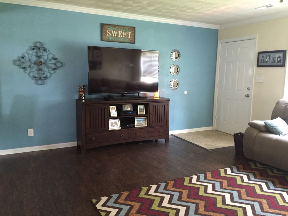 Our Living Room. Paint Color Open Seas From Sherwin Williams And Decor From  Homegoods And Part 85
