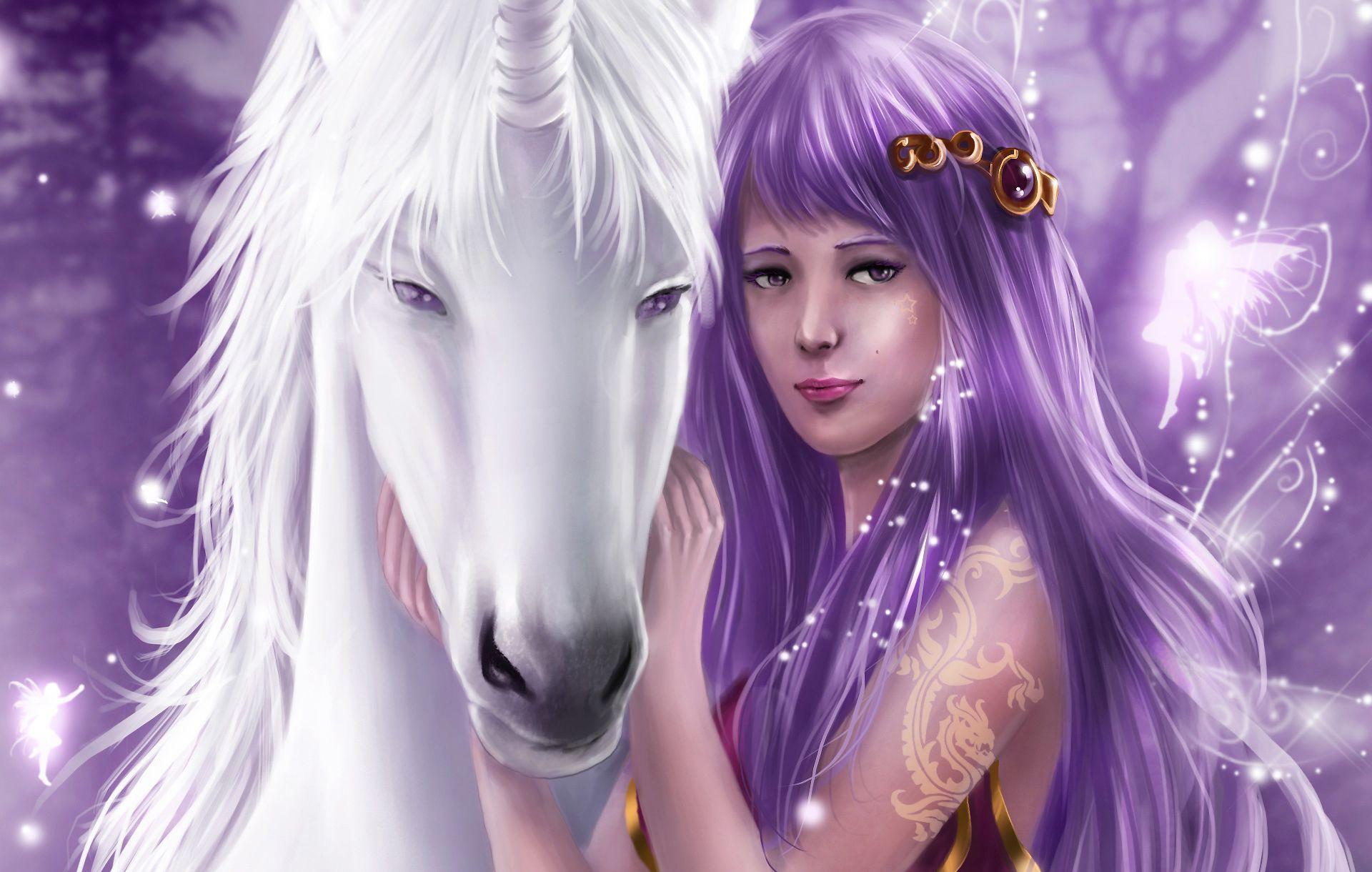 Fantasy Fairy Unicorn Wallpaper Fairy wallpaper