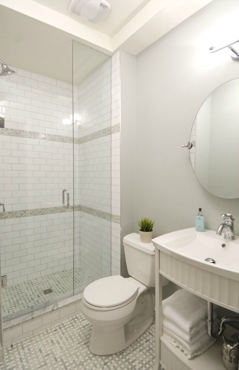 Brand new bathroom - glass shower, tile floor, new fixtures - HGTV ...