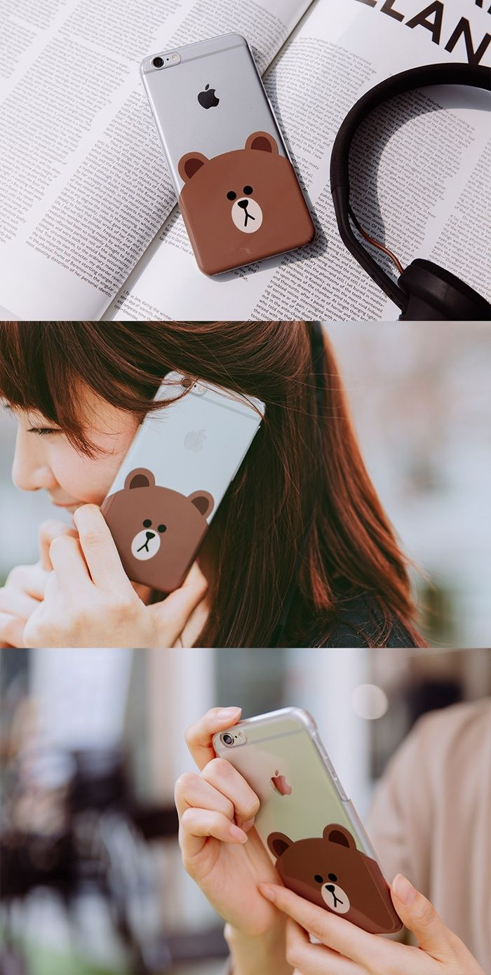 [LINE FRIENDS OFFICIAL GOODS] BROWN IPHONE6 CASE
