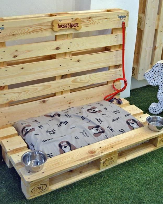 hundebett bauen mit paletten was kann man aus paletten