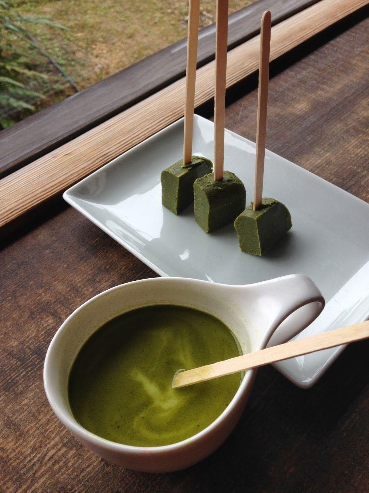 Da Washoku Kitchen: Hot Green tea Chocolate on a stick!