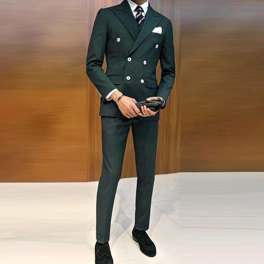 Mens Wedding Suit Jackets Vest Trousers Slim Fit 3 Piece Suit Blazer Groom Tuxedo Business Suit