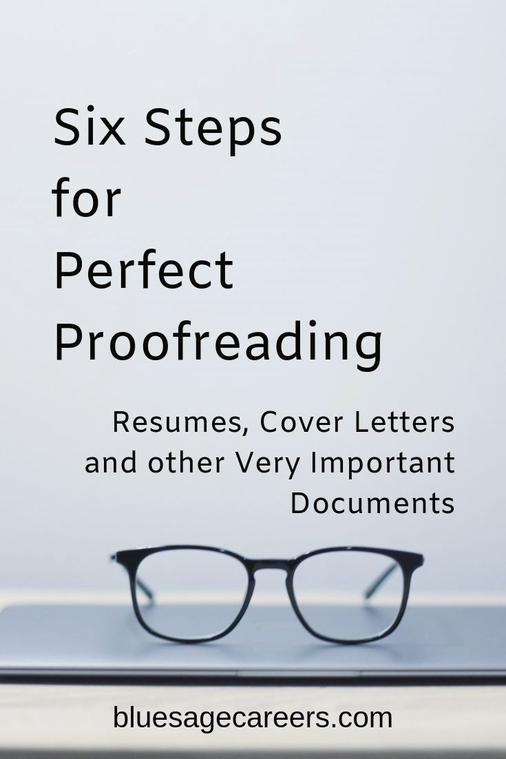 six steps to perfect proofreading