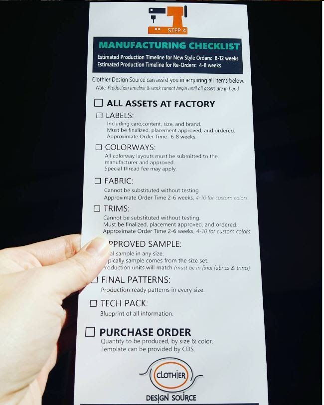Checklist for apparel manufacturing 20 minutes clothier design checklist for apparel manufacturing 20 minutes clothier design source malvernweather Images