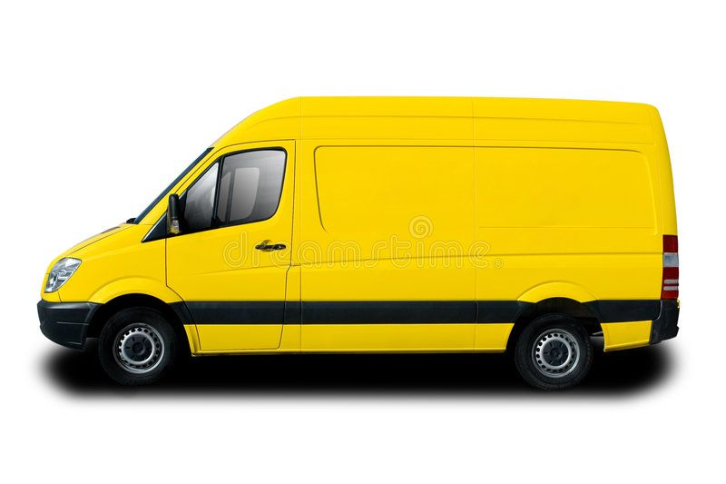 Delivery Van Yellow Delivery Van Isolated On White Sponsored