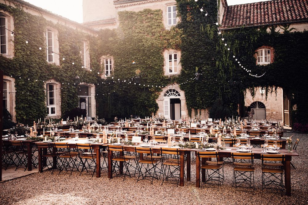 Outdoor Destination Wedding at Château De Malliac Planned by Country Weddings in France