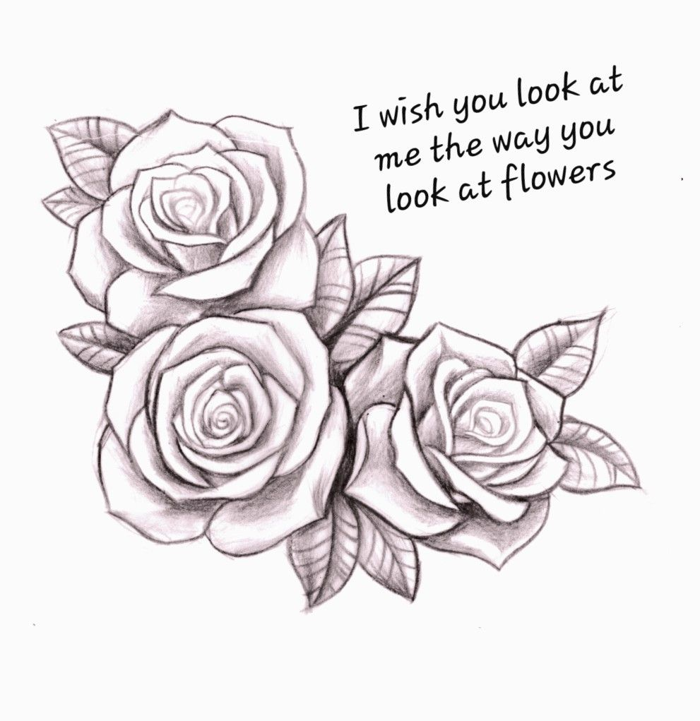 Pin by Natalie Kay Lutz on Bad Feelios | Rose drawing tattoo, Roses drawing, Rose tattoo thigh