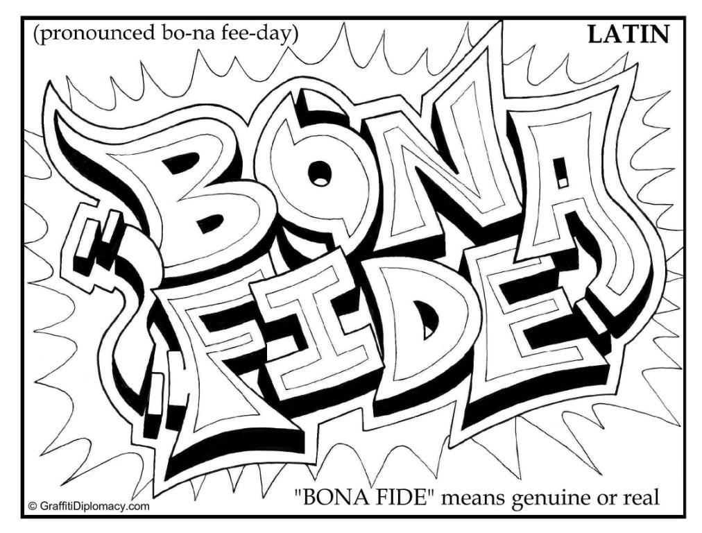 Latin Graffiti, Bona Fide Graffiti,multicultural graffiti