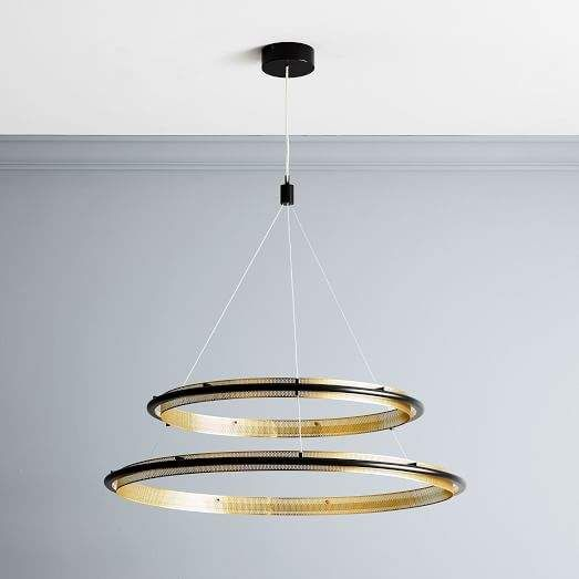 Perforated Single LED Chandelier