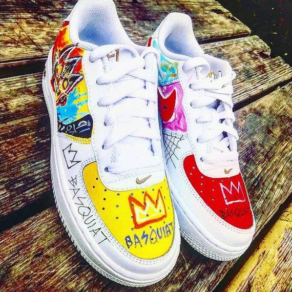 Basquiat Custom Nike Air Force one,custom sneakers , custom