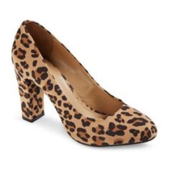 afed38aa9cf Merona Leopard Print Block Heels Merona Leopard Print Block Heels super  cute and comfortable! SIZE