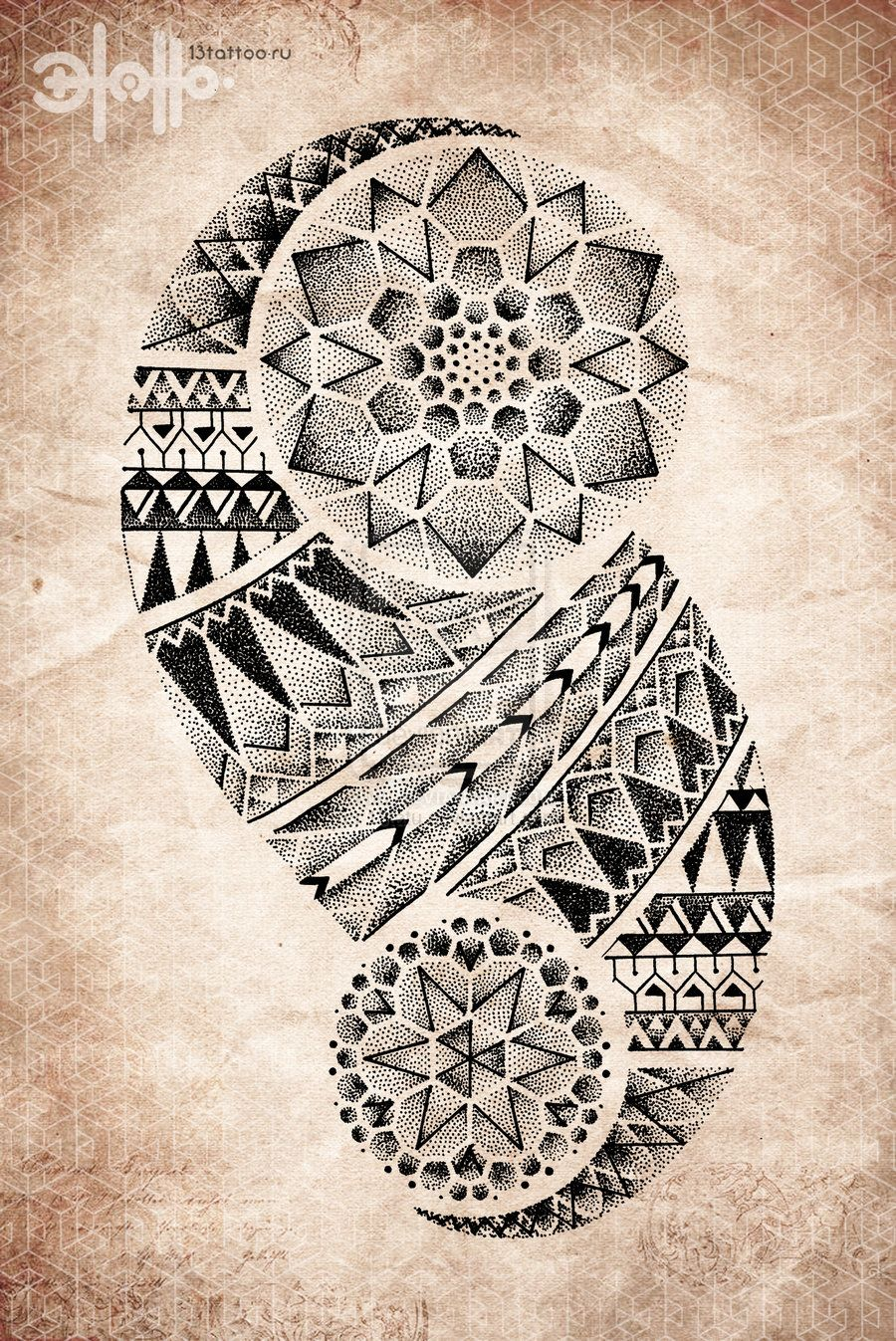 3aa32eeb9 geometric tribal tattoo | Tattoos Dotwork Pointillism Pattern Mandala  Geometric #maori #tattoo #tattoos