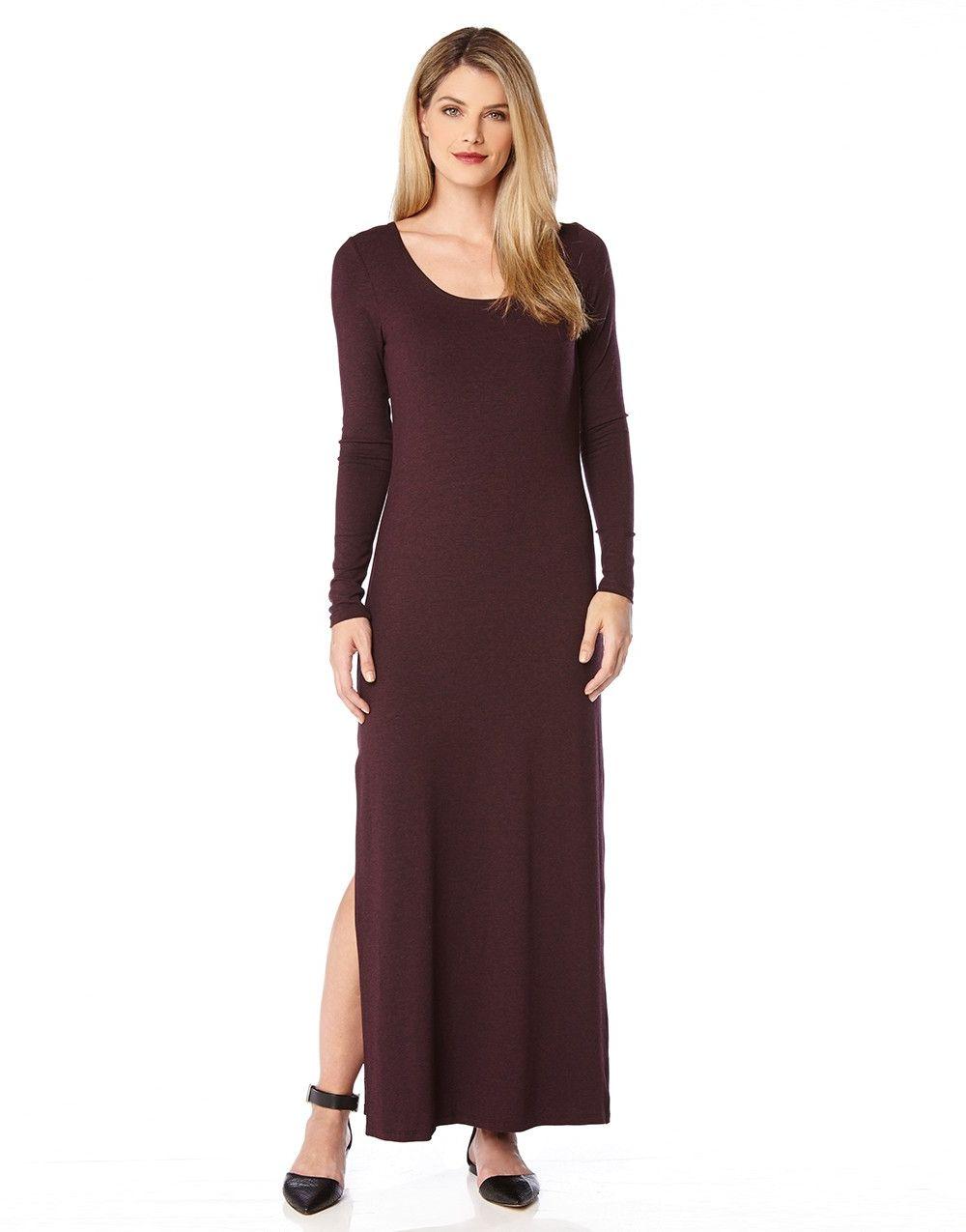 Long sleeve maxi dress knit longsleeve dress pinterest