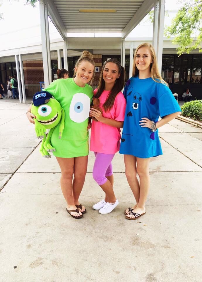 Diy monsters inc costumes homecoming prom pinterest d guisements id es de d guisement et - Idee deguisement groupe ...