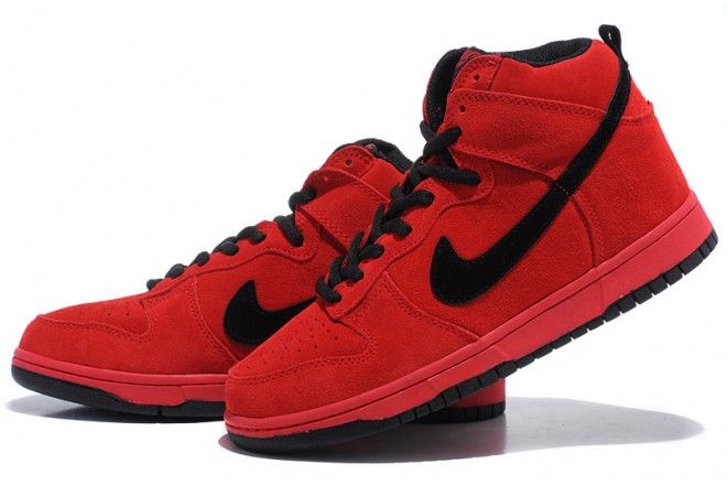 huge selection of 984d5 124a3 hot nike dunk high hellboy rot f9643 f9cbf