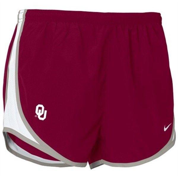 Nike Oklahoma Sooners Crimson Ladies Tempo Shorts ❤ liked on Polyvore