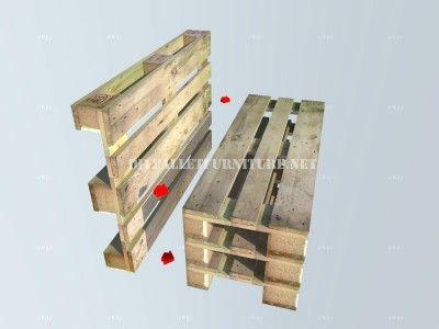 Comment faire un banc avec palettes tape par tape - Construction banc en palette ...