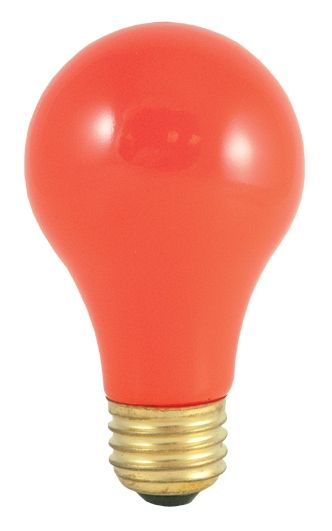 Bulbrite Incandescent Medium Screw Bulb In Ceramic Orange Pack With Images Red Light Bulbs Light Bulb Colored Light Bulbs