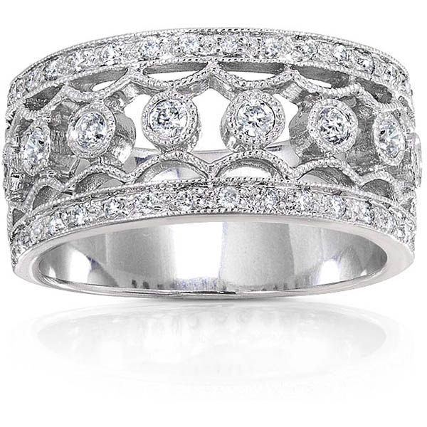 p i womens platinaire band wedding diamond yes said accent white