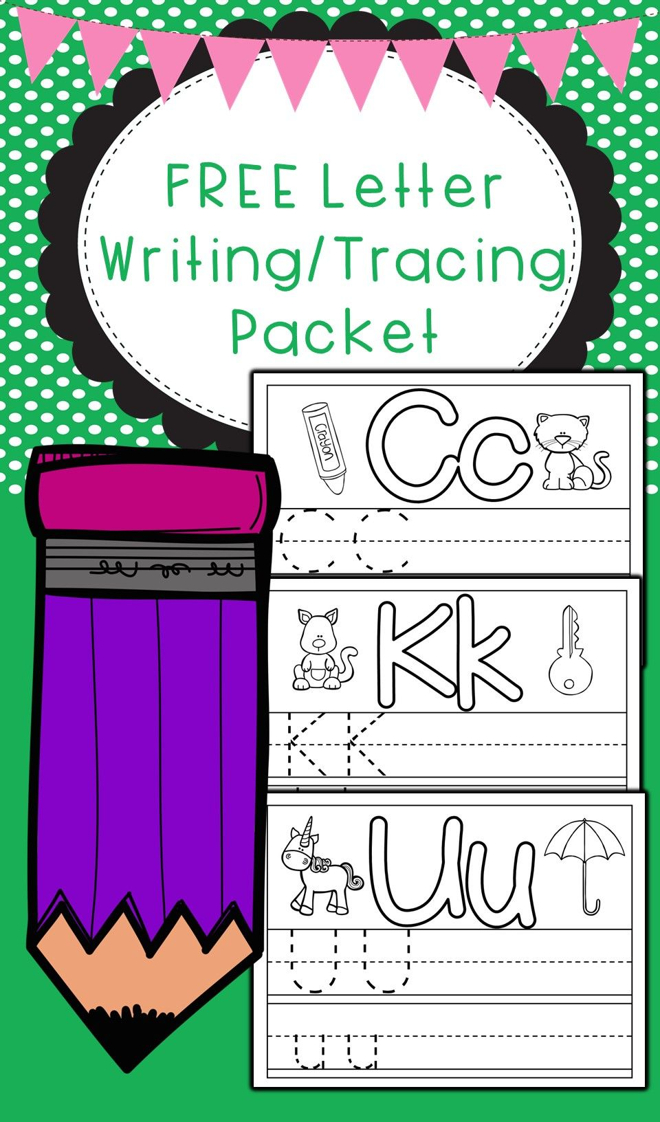 Free Letter Tracing And Writing Packet Perfect To Prepare Your