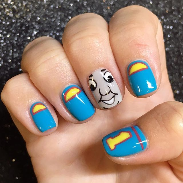 Thomas The Train Nail Art For Kellymkirschs Sons 3rd Birthday