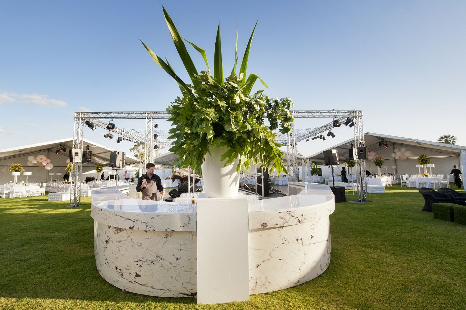 best outdoor wedding venues perth%0A Marquee Perth wedding on South Perth foreshore  Photography by DeRay
