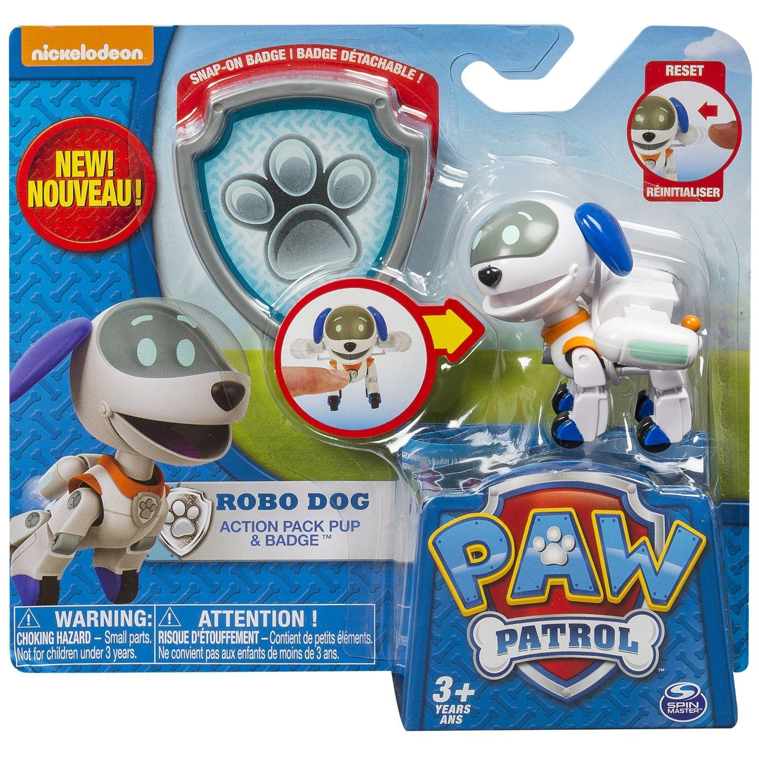 Paw Patrol Action Pack Pup And Badge Robo Dog Paw Patrol Paw