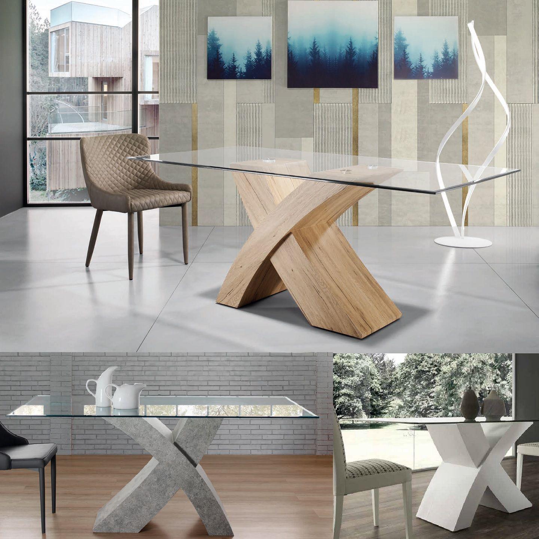 Tavoli In Cristallo Con Base In Legno.Arredamento Online Vendita Mobili Nel 2020 Tavolo Moderno