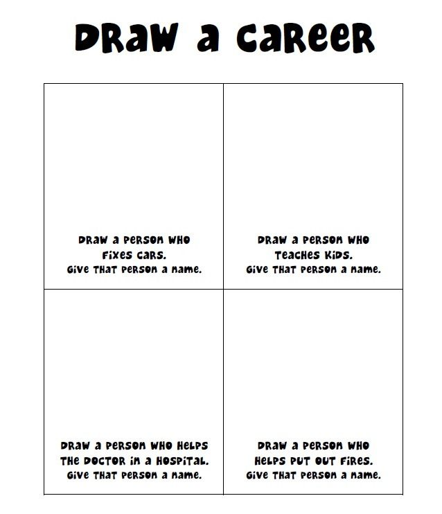 Draw a Career Gender Stereotypes elementaryschoolcounseling – Career Exploration Worksheets