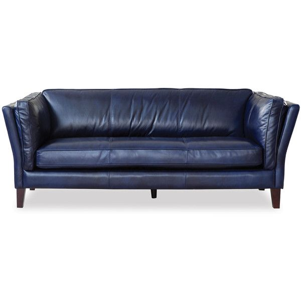 Thos Baker Admiral Leather Sofa Navy 2 595 Liked On Polyvore Featuring Home Furniture And Sofas Sofa Blue Leather Sofa Sofa Sale
