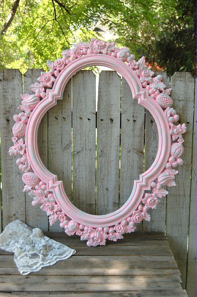 Pink shabby chic frame   For the Home   Pinterest   Schöne häuser ...