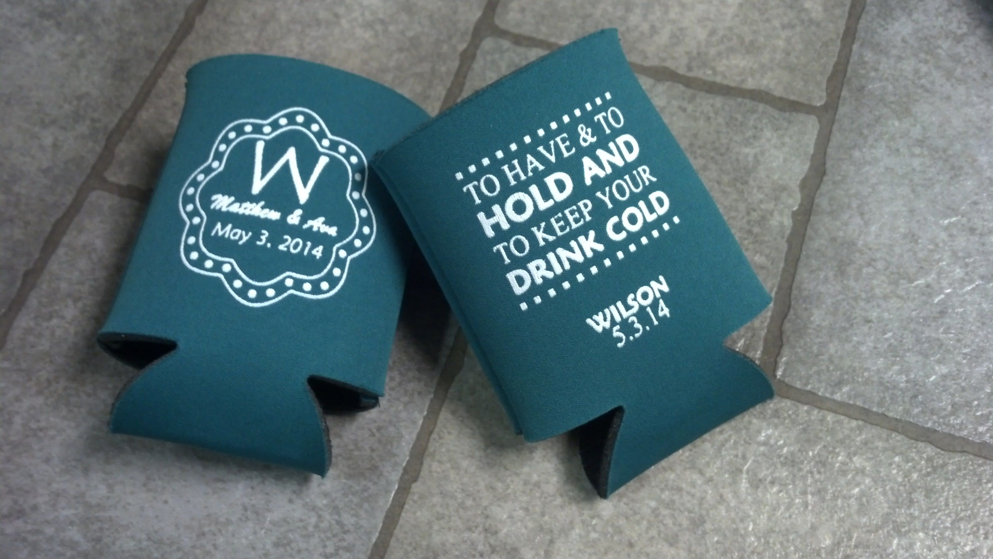 Perfect wedding koozie with monogram and Have and Hold www ...