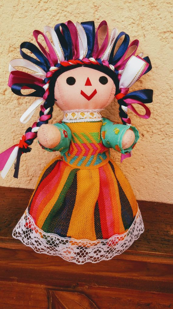 Mexican Rag Doll Indigenous Folk doll day of the dead