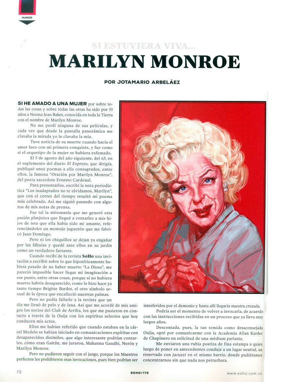Marilyn anciana_Ilustración para la Revista Soho.